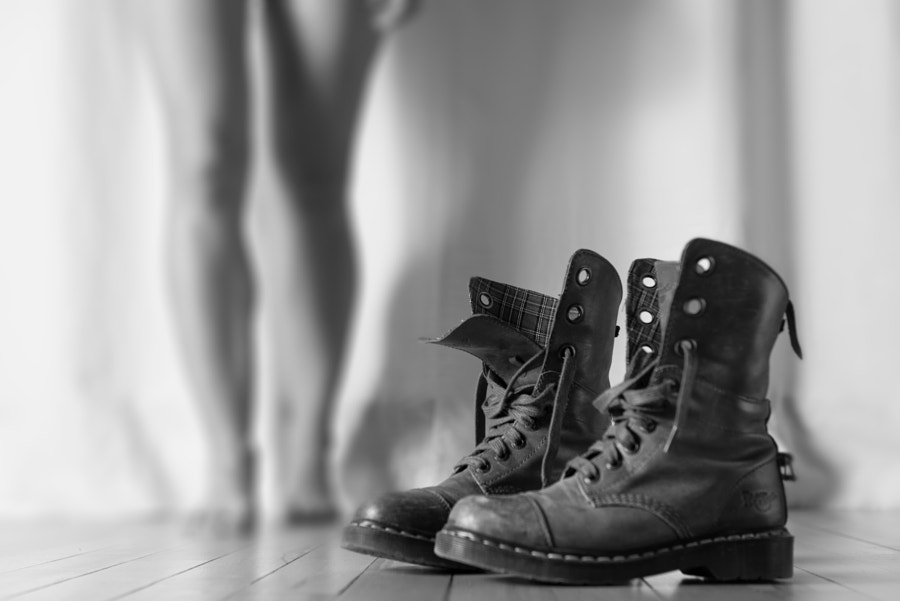 black boots (for her)