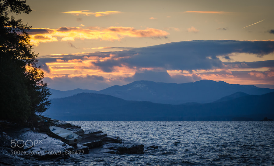 Photograph Sunset over Lake Champlain by Paul Richardson on 500px