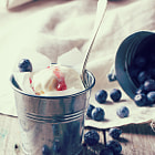 Постер, плакат: Ice Cream with Blueberries
