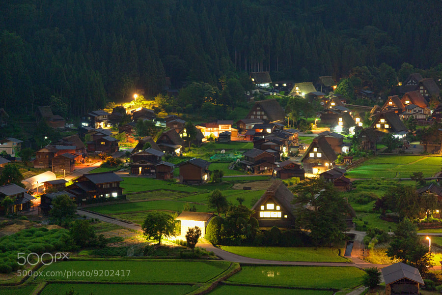 Photograph Shirakawa-go in the night by MIYAMOTO Y on 500px