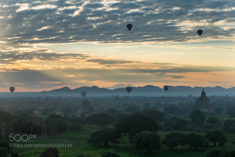 Photograph A morning in Bagan by S�bastien Mory on 500px