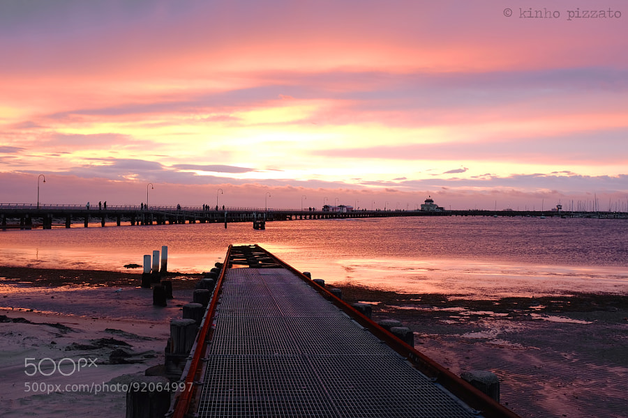 Photograph sunset in st kilda by kinho pizzato