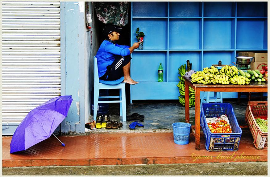 Nepal Series:  Purple Umbrella
