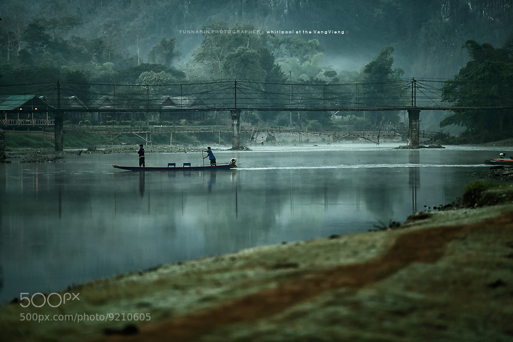 Photograph The Bridge whirlpool at the Vang Vieng by Narin Yun on 500px