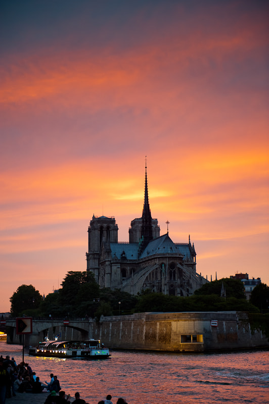 Photograph Notre Dame sunset by Chris Kench on 500px