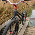 Постер, плакат: Street trial bike Black and red
