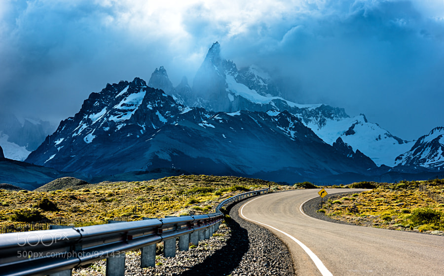 Photograph Road to Fitz Roy by Evgeny Tchebotarev on 500px