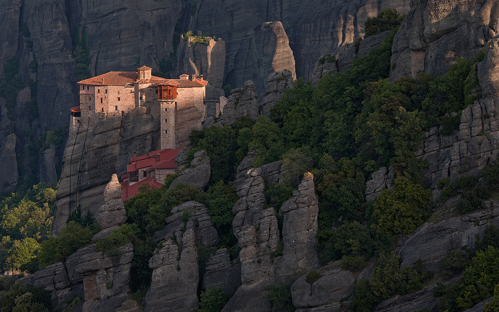 Photograph  Roussanou Nunnery at sunrise. Meteora, Thessaly, Greece  by Mike Reyfman on 500px