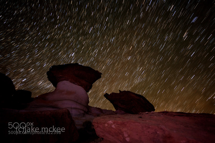 Photograph Stud Horse Point star trails by Jake  McKee on 500px
