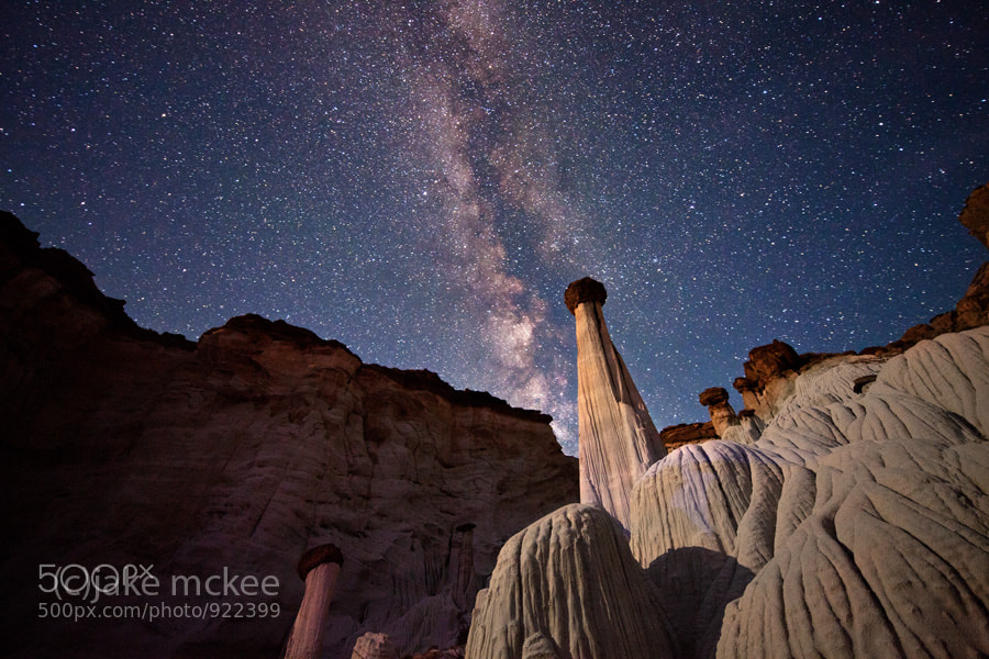 Photograph Wahpeap Hoodoos at night by Jake  McKee on 500px