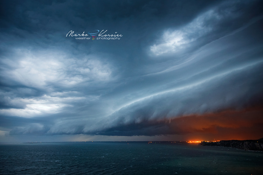 Photograph Evening shelf cloud by Marko Korošec on 500px