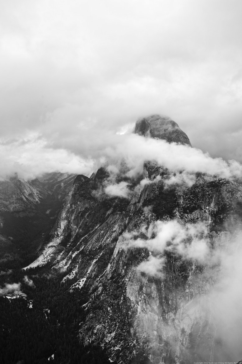 Photograph Half Dome Poking Through The Clouds - California by Sean Cheng on 500px