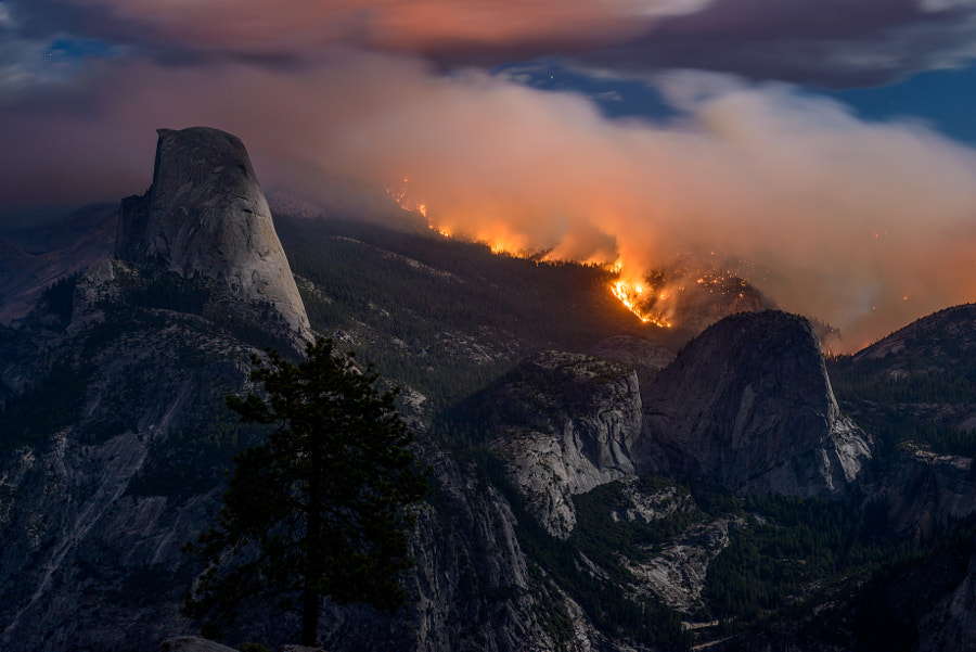 Meadow Fire, Yosemite National Park, Sept 7 2014 by Peter B. James on 500px.com