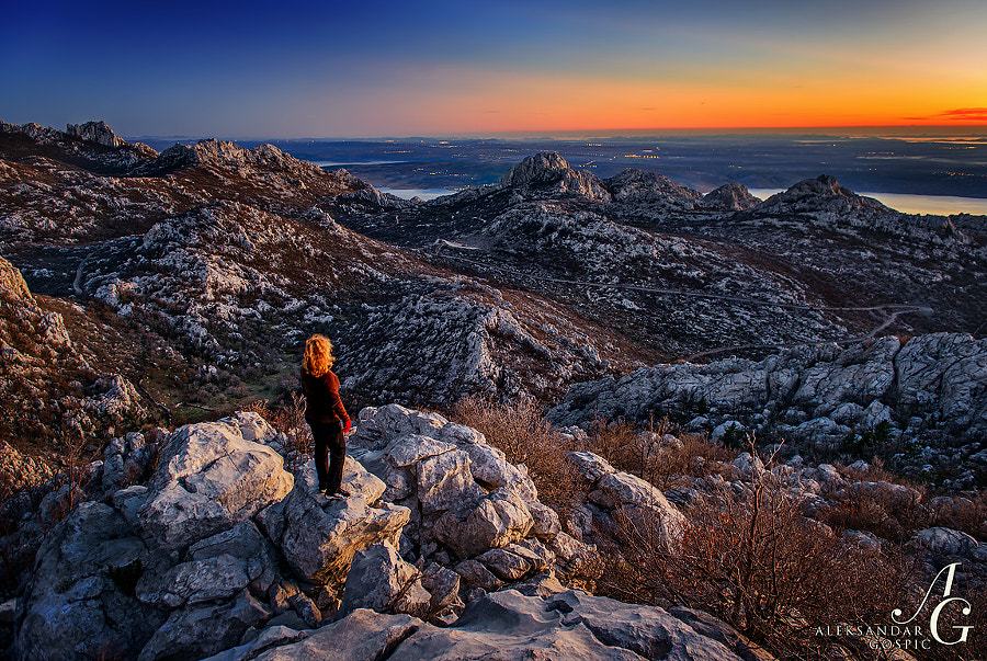Farewell to the day from the heights of Velebit