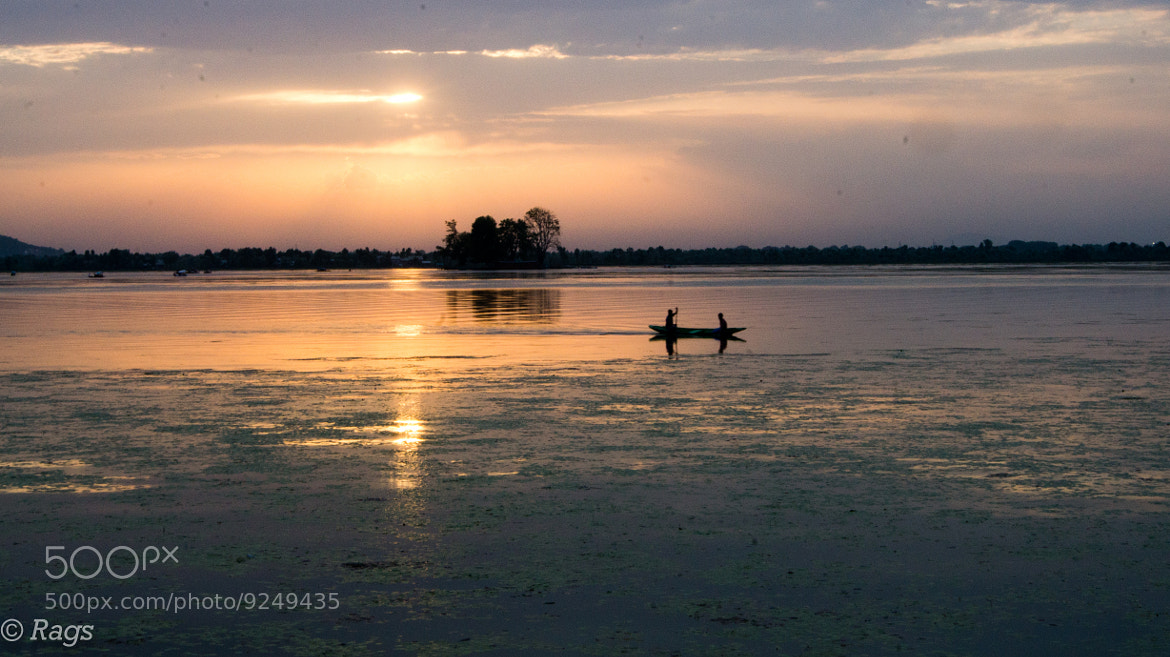 Photograph Sun Setting on the lake by Raghuram S on 500px