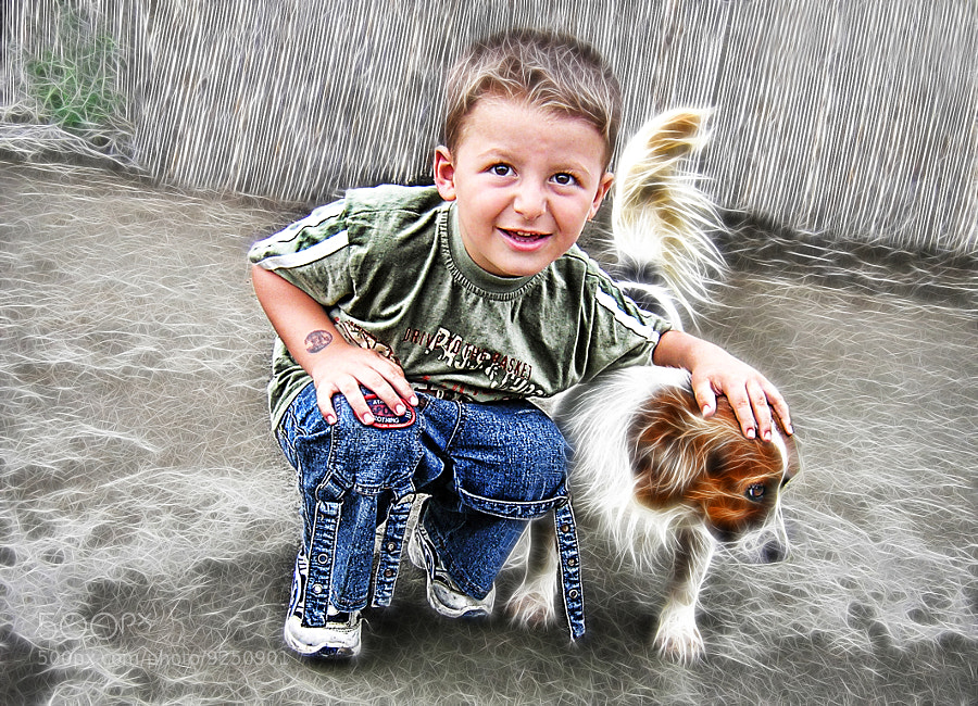 Photograph Boy and his dog by Vendenis . on 500px