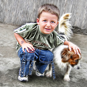 Boy and his dog by Vendenis . (Vendenis)) on 500px.com