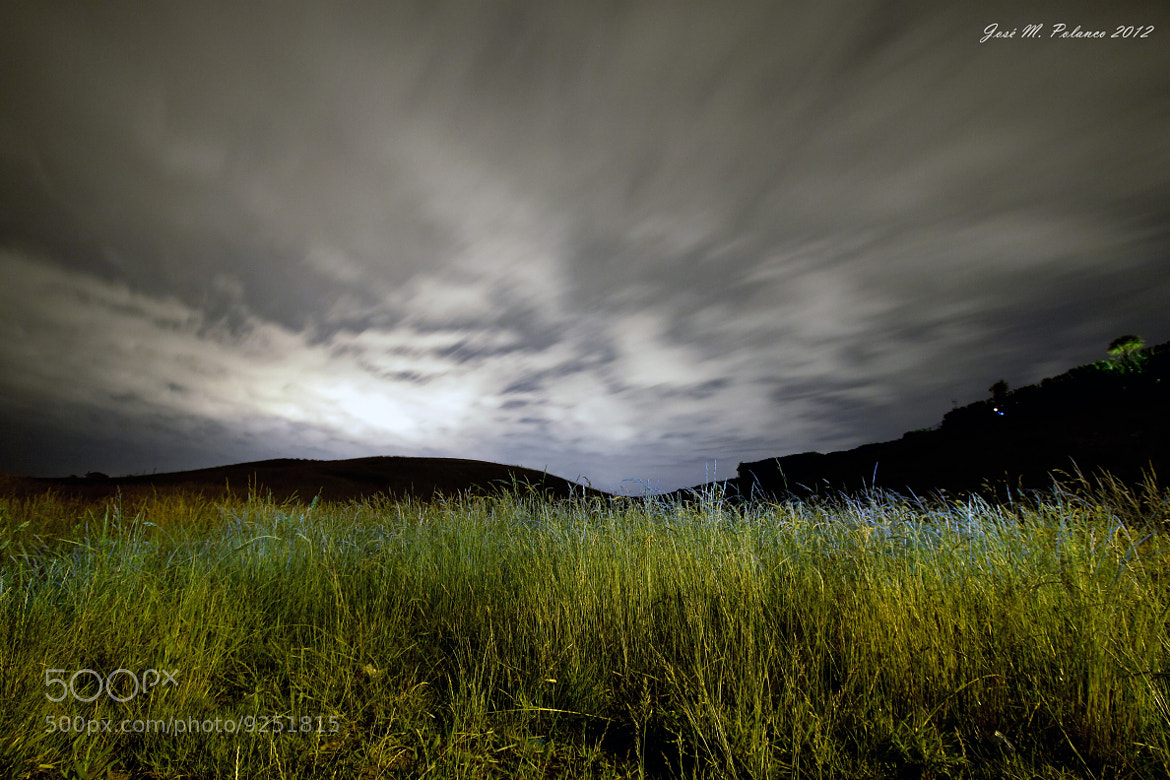 Photograph Moving clouds in the night by jose manuel polanco on 500px