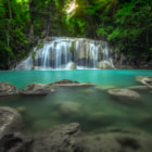 Постер, плакат: Erawan waterfall