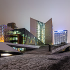 Постер, плакат: Swedbank in Vilnius at night