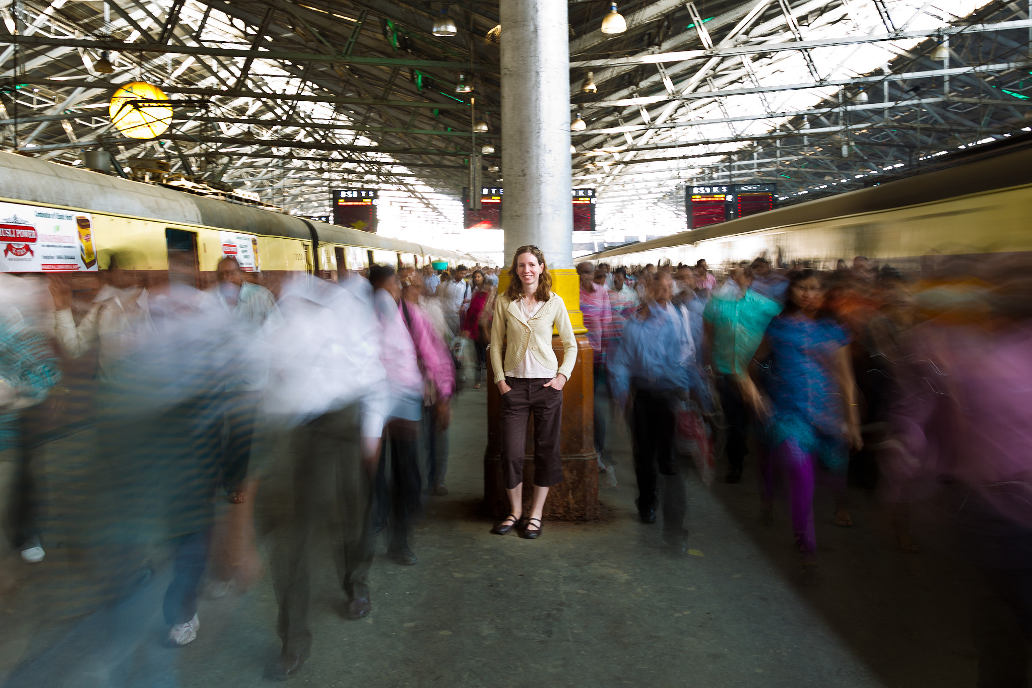 Photograph Crowded train station in Mumbai by Fabio Bosco on 500px