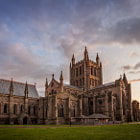 Hereford Cathedral at sunset