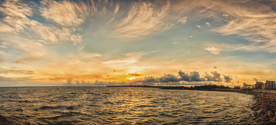 Photograph Spindrift Clouds Panorama by Alexander Luginin on 500px