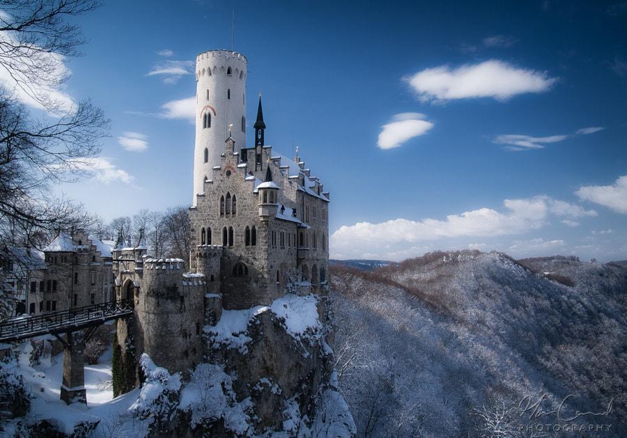 Winter fairytale castle