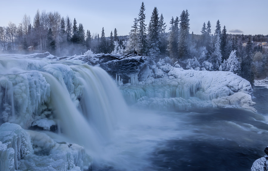 Photograph Frozen waterfall in Sweden by Andreas Sandström on 500px