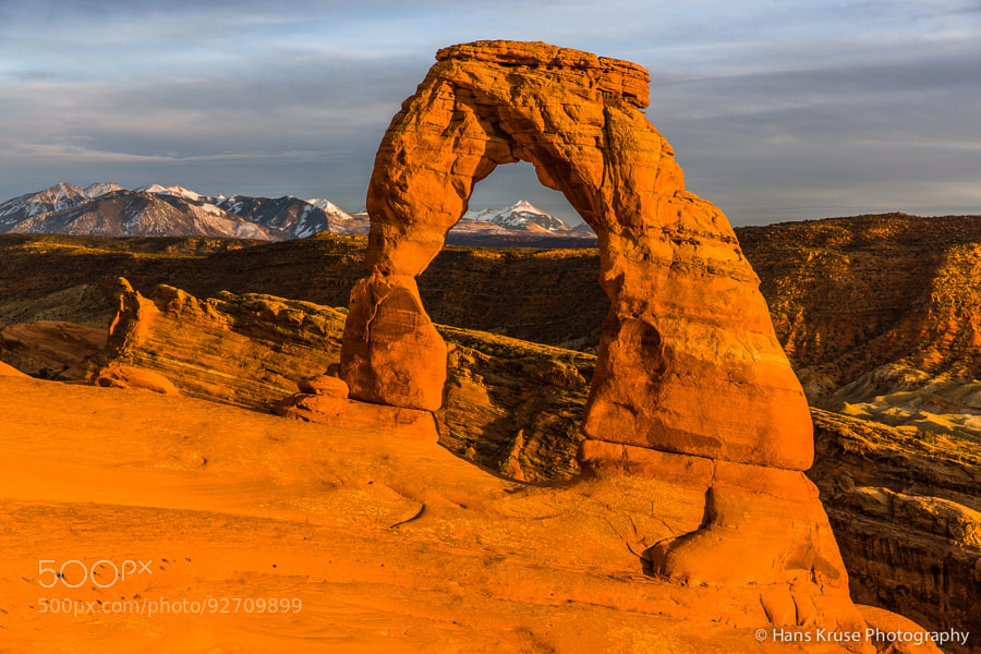 This photo was shot in the Arches National Park near Moab in Utah during a trip to the USA in March 2014.