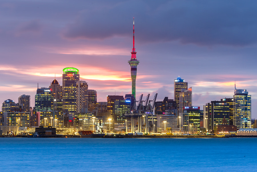 Auckland Cityscape by night