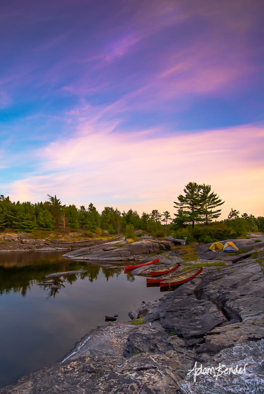 Photograph French River Sunset by Adam Bender on 500px