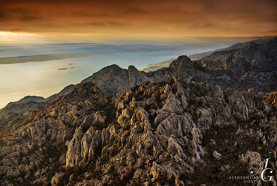 Golden our ticking over timeless beauty of the Velebit karst