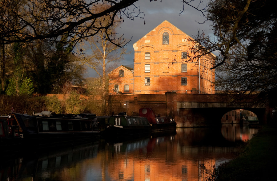 Grand Union Canal Northamptonshire,UK