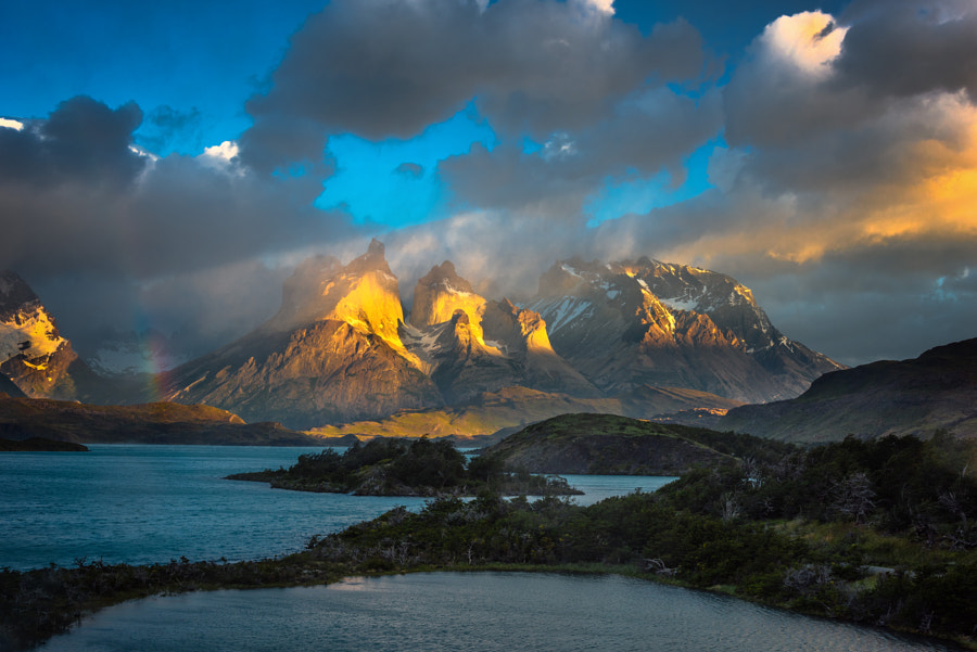 Photograph Golden Sunrise at Torres Del Paine by Evgeny Tchebotarev on 500px