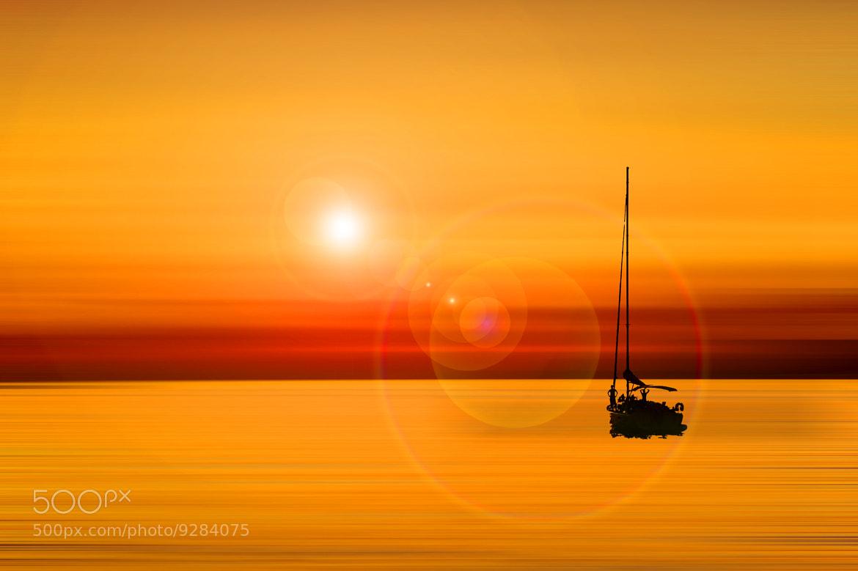 Photograph Sunset Mykonos (Abstract Version) by Sergio Otero Sevillano on 500px