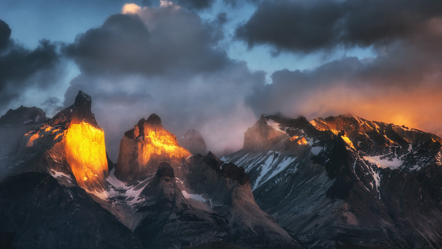 Photograph The Grim Cuernos del Paine by Evgeny Tchebotarev on 500px