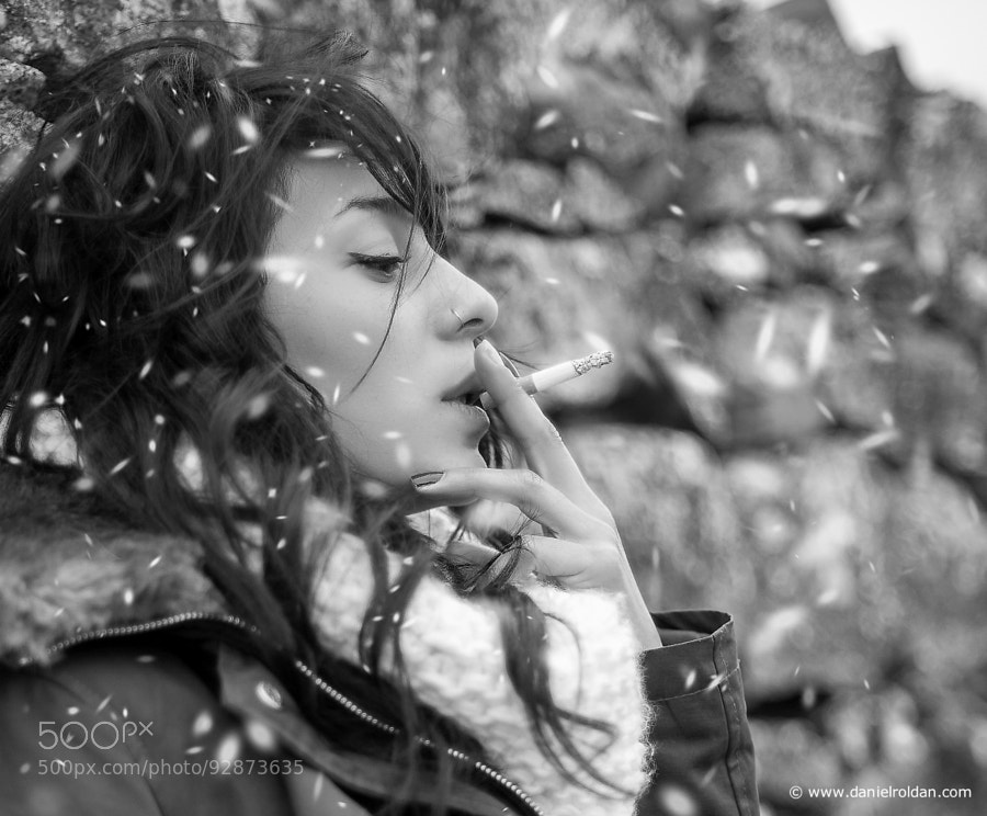 Photograph Smoking under snow by Daniel Roldán on 500px