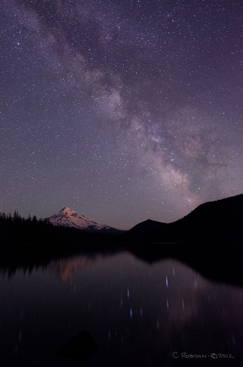 Photograph Mt. Hood over Lost Lake Milky Way by Chris Robison on 500px