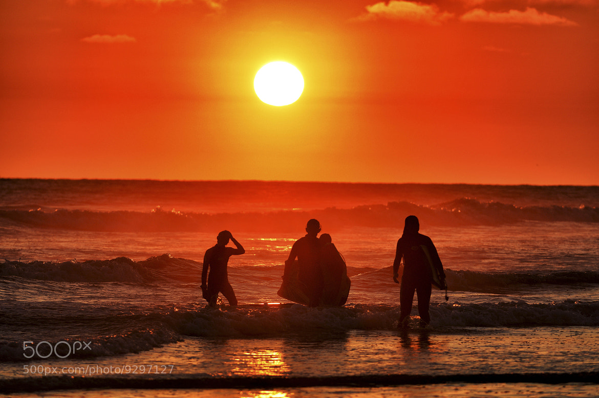 Photograph Boogie Boarders at Sunset in Oceanside - July 6th, 2012 by Rich Cruse on 500px