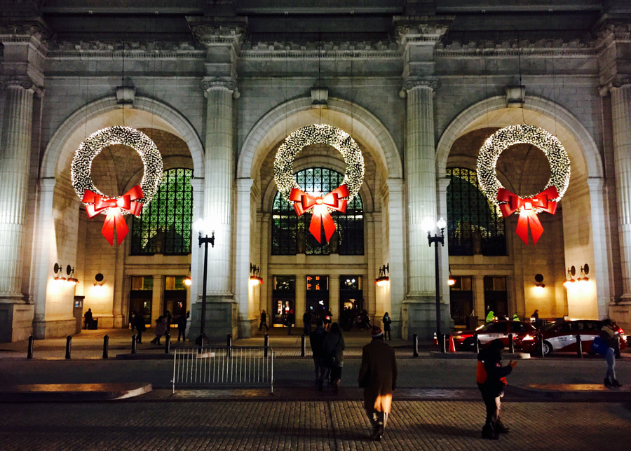 Union Station near Christmas by Matthew Bradley on 500px.com