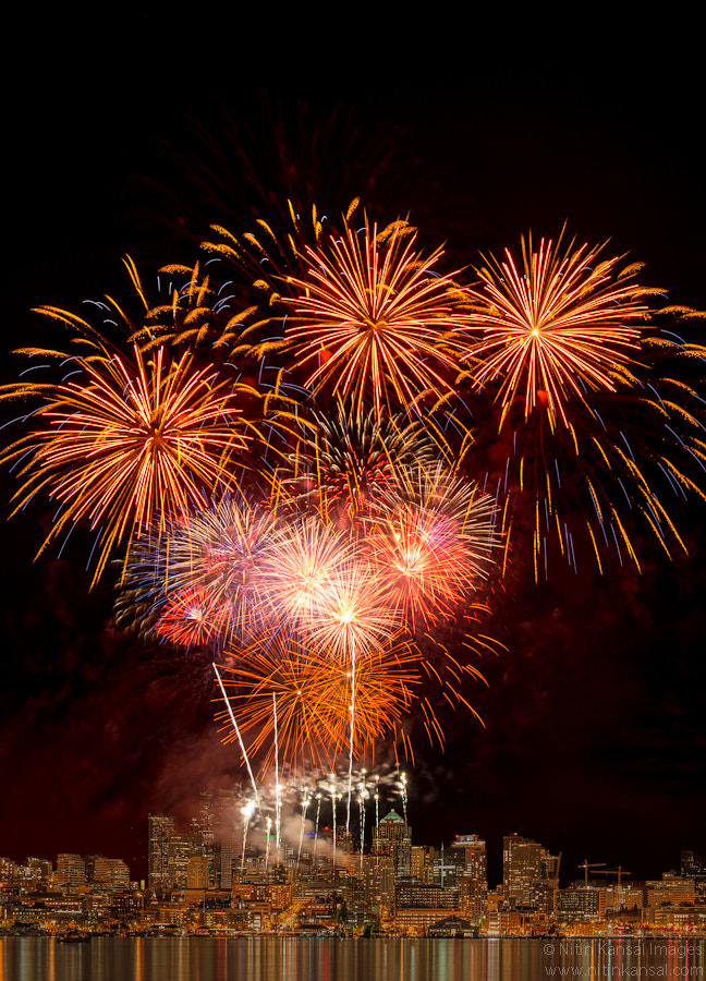 Photograph Seattle Fireworks 4th July 2012 by Nitin Kansal on 500px
