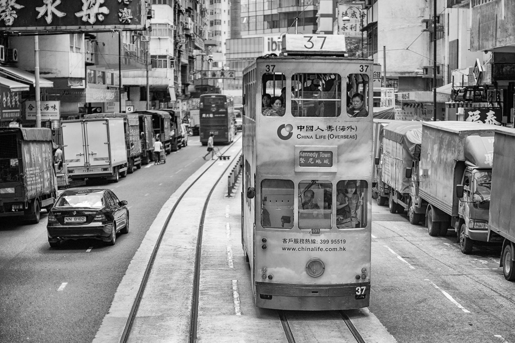 Photograph Kennedy Town Tram by Stephen Patterson on 500px