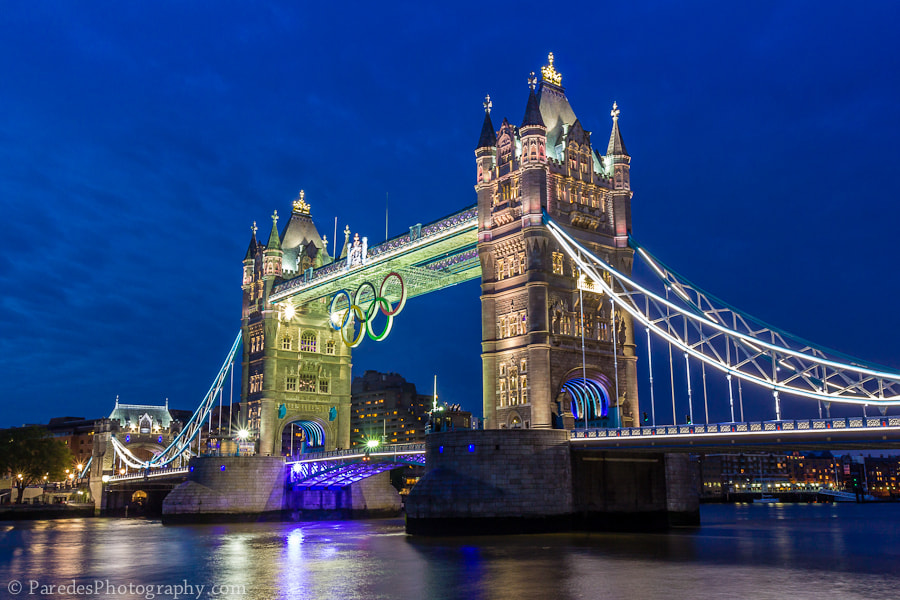 Photograph Olympic Rings on Tower Bridge by Peter Paredes on 500px