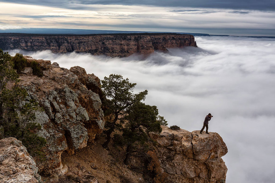Photograph Grand Canyon Cloud Inversion by Harun Mehmedinovic on 500px