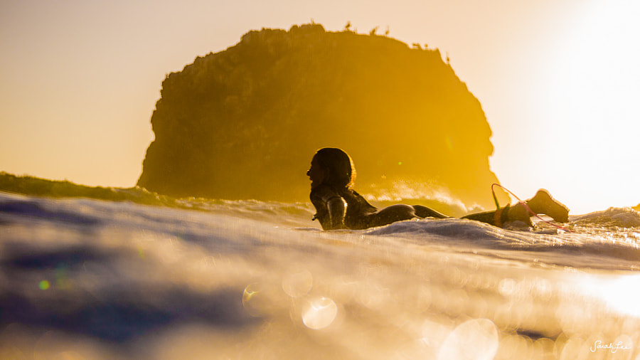 Photograph Surfing in Big Sur by Sarah Lee on 500px