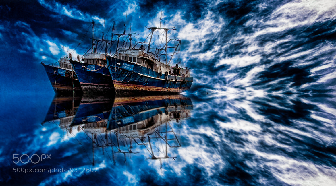 Photograph Blue Ships by Kyle Stanley on 500px