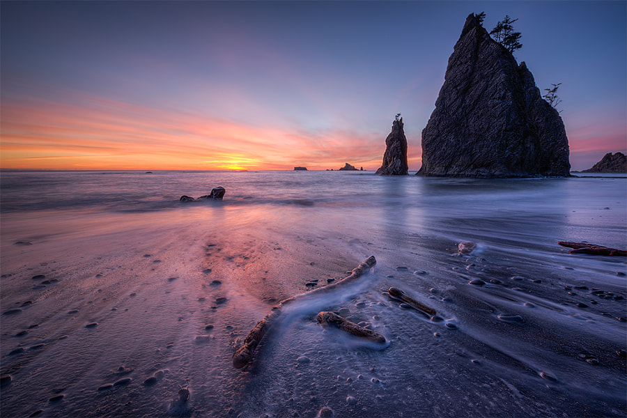 Photograph Rialto Beach Sunset by Dan Mihai on 500px
