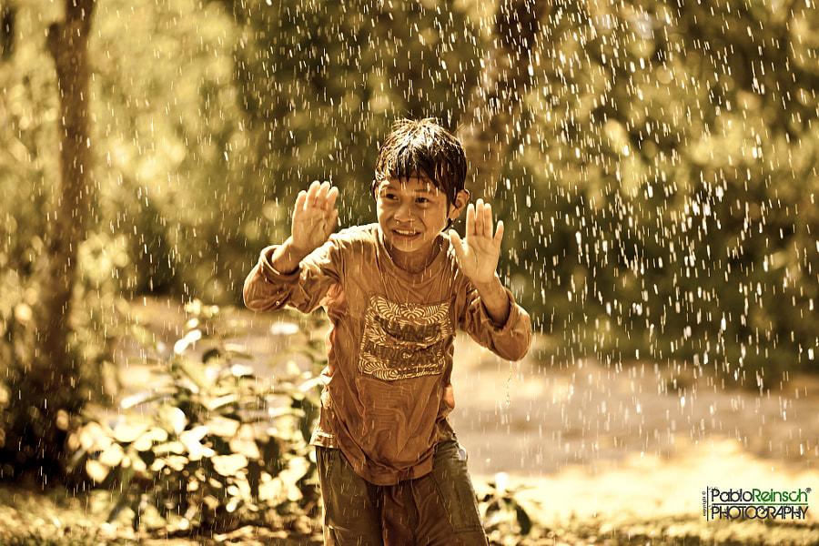 His own rain.-