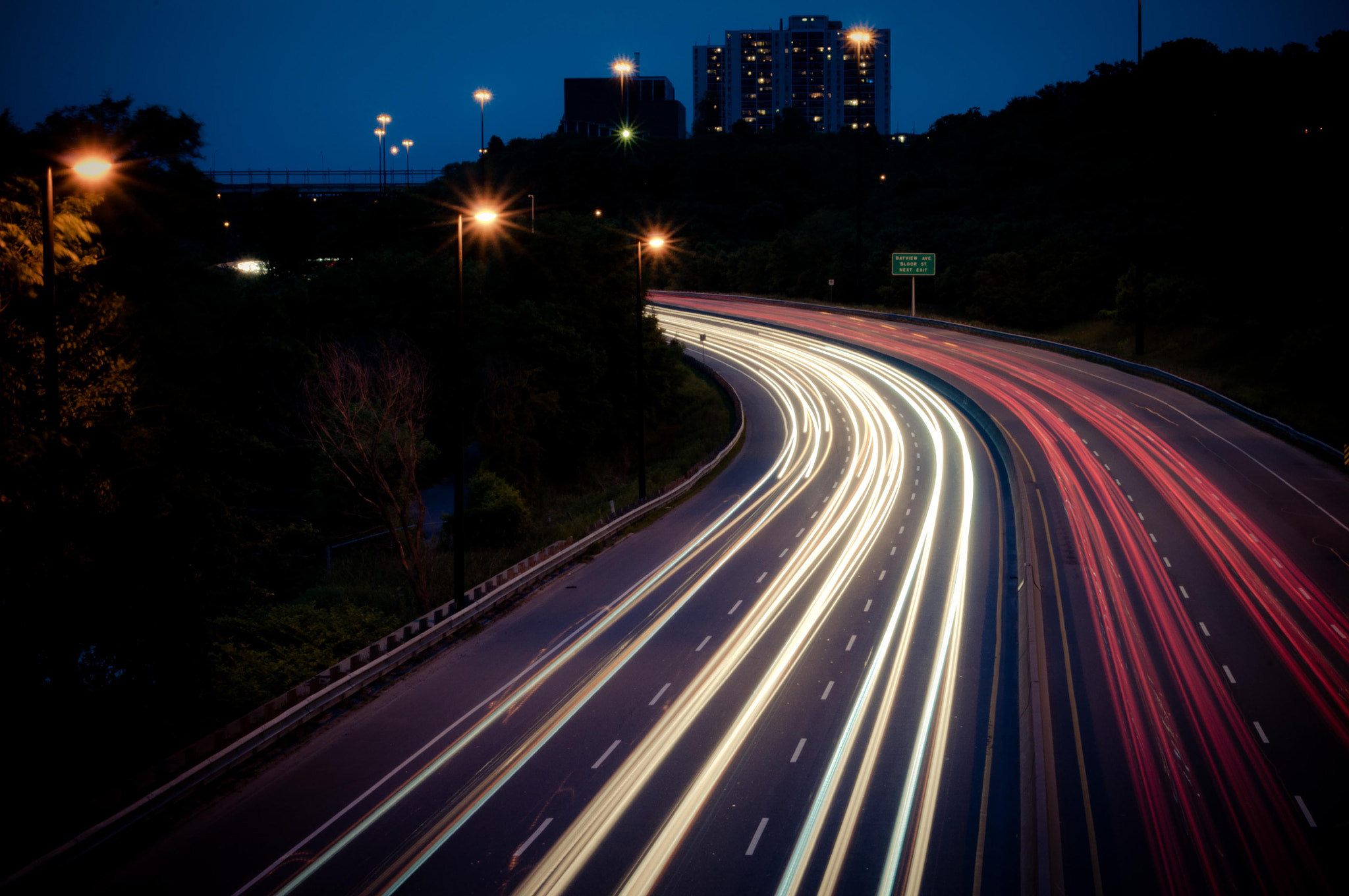 Photograph Don Valley Light Trails by Paul Wisenberg on 500px